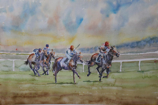 Hipodromo II Watercolour Sports Paper