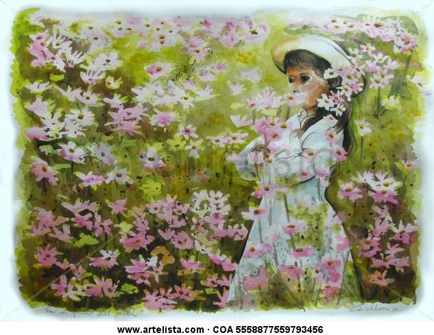 En el fondo del jardín Landscaping Watercolour Card