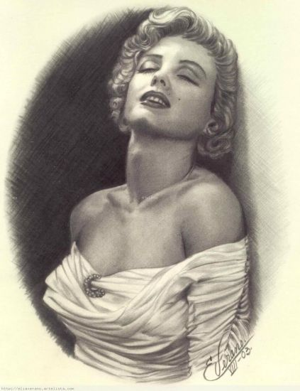 Perfil Marilyn Monroe Grafito