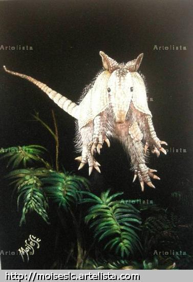 armadillo sudamericano kirkincho Óleo Lienzo Animales