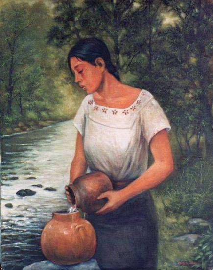 Agua de río Lienzo Óleo Otros