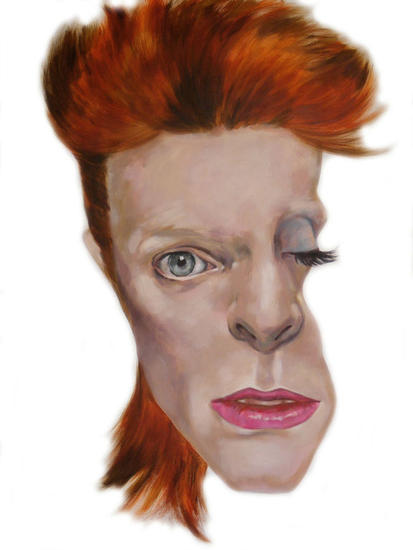 DAVID BOWIE Portrait Acrylic Canvas