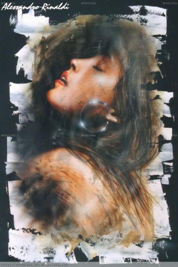 Lilith... Retrato Papel Media Mixta