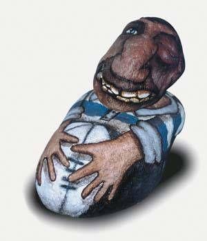 jugador de rugby Piedra Figurativa