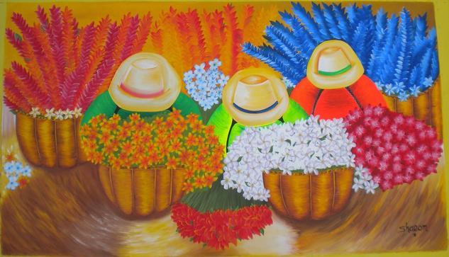 Cholitas Vendedoras de Flores