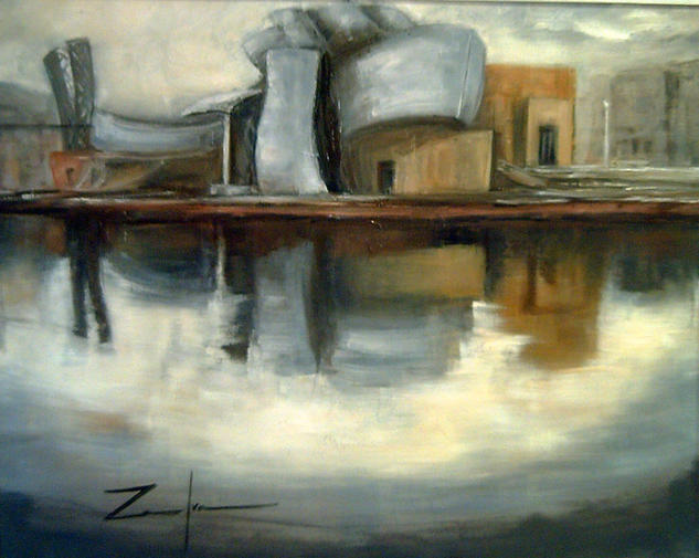 GUGGENHEIM  (OTRA VISTA) Landscaping Oil Canvas