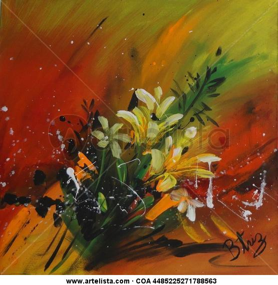 DAMAS DE LOS BOSQUES Canvas Acrylic Floral Painting