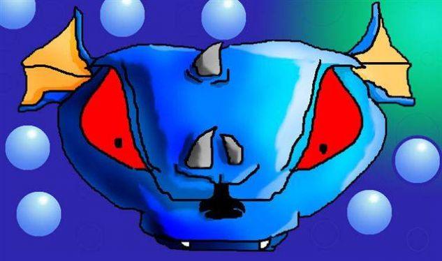 Cara de titron con ojos rojos