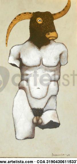 MINOTAURO Lienzo Acrílico Figura