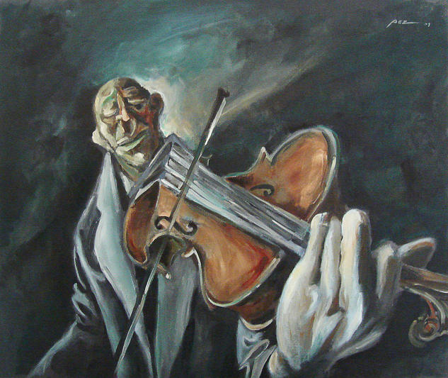 Violinista Canvas Oil Figure Painting