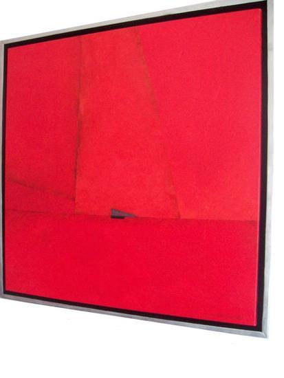 El Gran Rojo Paisaje Óleo Lienzo