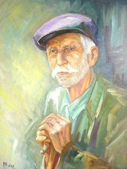 retrato de anciano Lienzo Óleo Figura