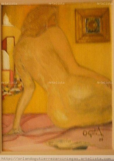 Recuerdo al Girasol Lienzo Óleo Desnudos