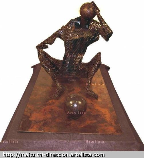 World Mundo,  Iron , Metal, Inmaculada Lara Cepeda, maku, sculpture, escultura, estatua Metal Figurativa