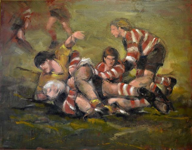 Rugby en el Fango Oil Canvas Sports