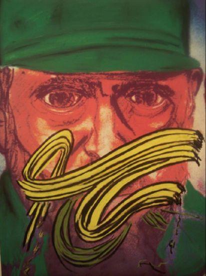 Fidel Castro Ruz Media Mixta Cartulina Figura
