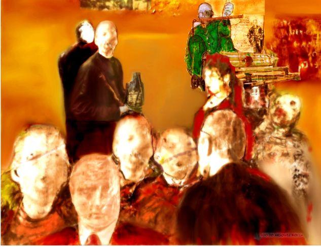 LA DISCRETA SABIDURÍA DE LAS MULTITUDES O EL CINISMO DIFUSO DE LAS SOCIEDADES EXHAUSTAS Lienzo Óleo Otros