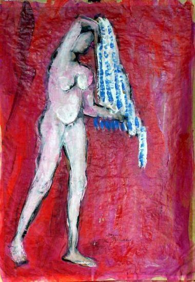 desnudo 2007 Acrylic Paper Nude Paintings