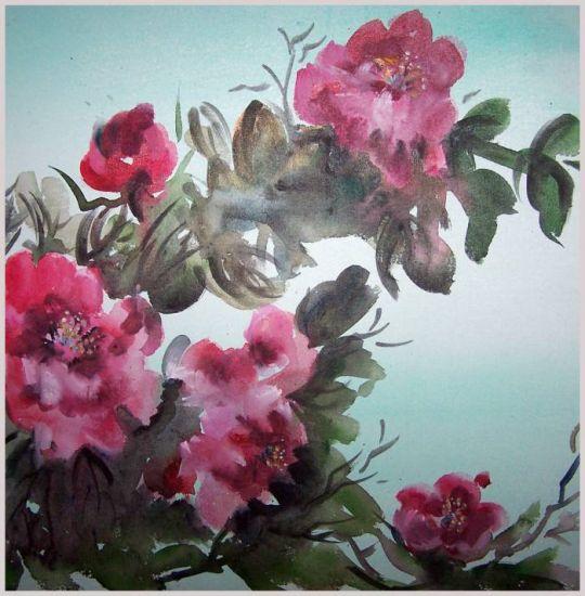 Peonies Acrílico Lienzo Floral