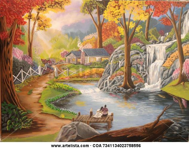 Amor eterno Canvas Acrylic Landscaping