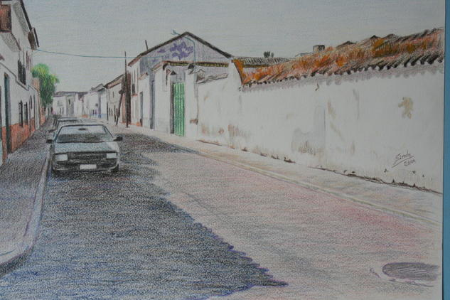 Calle de la escuela de música Landscaping Pencil (coloured) Paper
