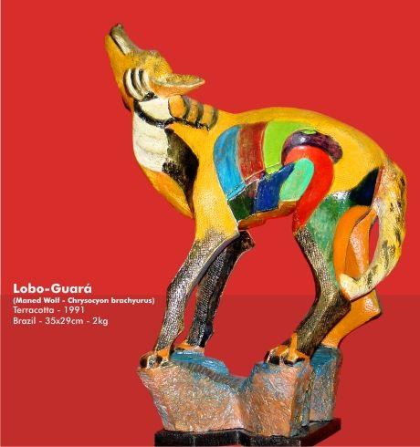 Lobo Guará - 1991 Figurative Terracotta