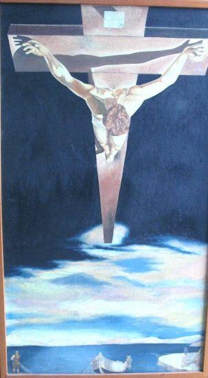 INTERPRETACIÓN DE DALÍ Oil Panel Figure Painting