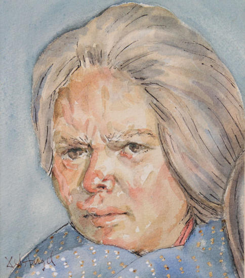 Indigena Blanca Paper Portrait Watercolour