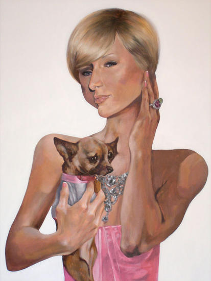 PARIS HILTON Canvas Oil Landscaping