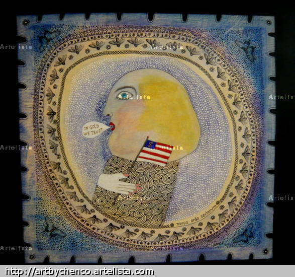 Washington - Wall Street Panel Mixed media Others