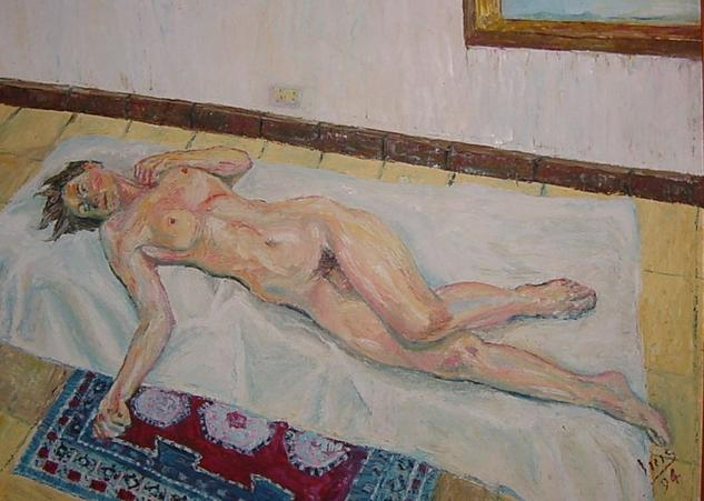 HERMAFRODITA I Canvas Oil Nude Paintings