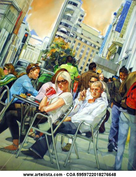 Crisis? What crisis? Canvas Oil Figure Painting