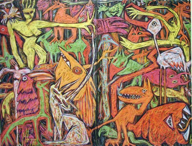 ANIMALIA Mixed media Canvas Animals