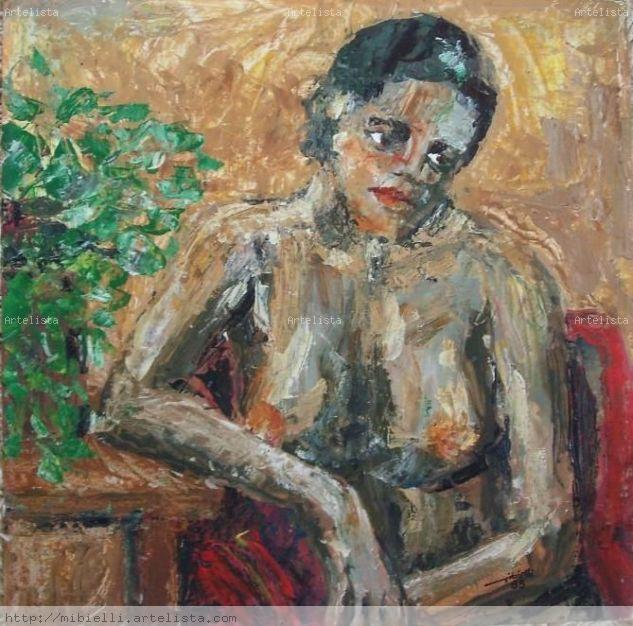 Mulata Acrylic Panel Nude Paintings