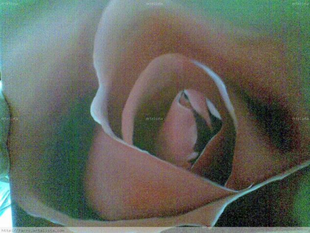 ROSA ROJA Óleo Lienzo Floral