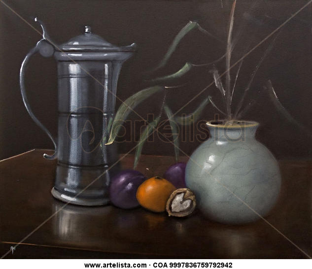 Satsuma Canvas Oil Still Life Paintings