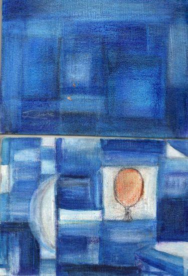 Azul, recordando a Paul Klee Lápiz (a color) Otros Paisaje