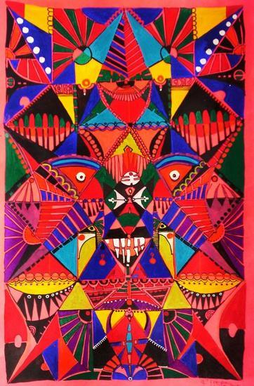 Abstracto geom trico 10 ramiro ernesto jij n franco for Imagenes de cuadros abstractos geometricos