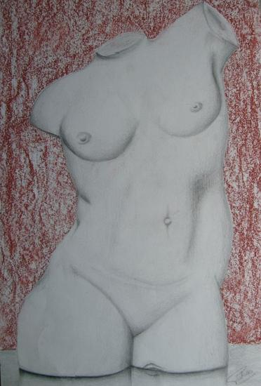 Torso femenino Mixed Media