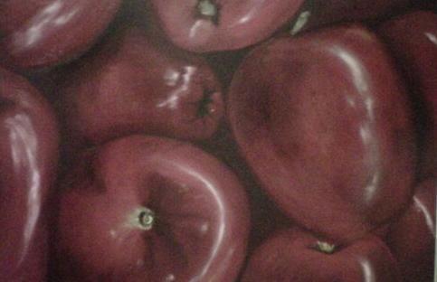 manzanas rojas Óleo Tabla Bodegones