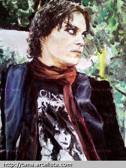 Ville Valo Portrait Oil Canvas