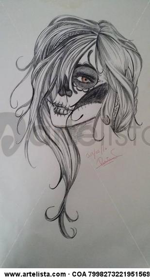 La Catrina Mixed Media