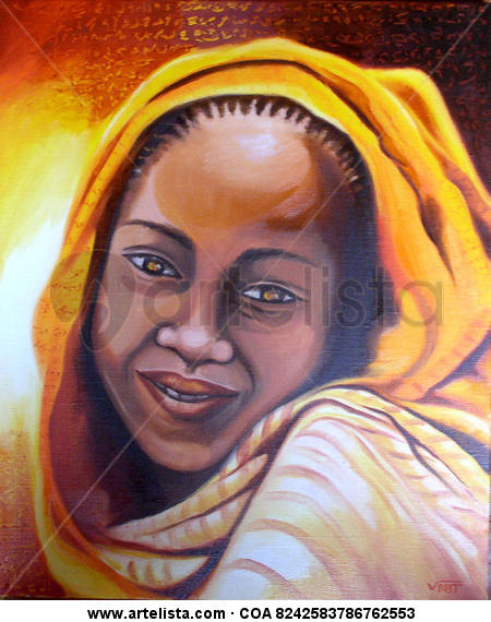 Sol Portrait Oil Canvas