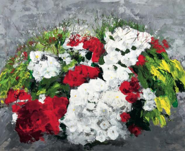Flores de colores Tabla Acrílico Floral