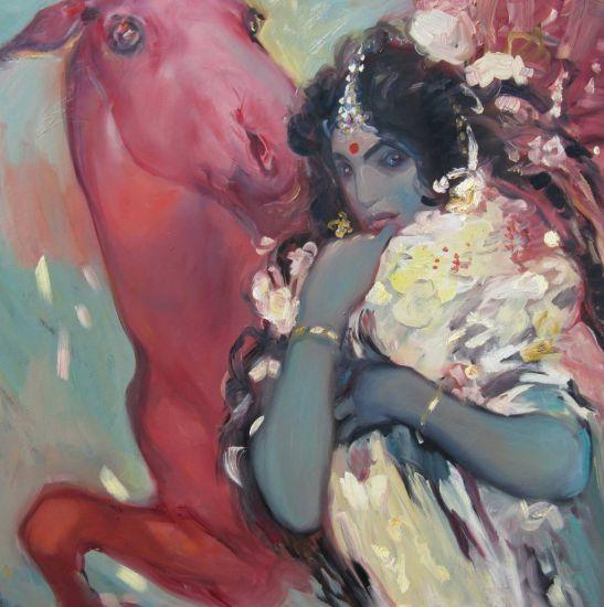 Krishna with Horse