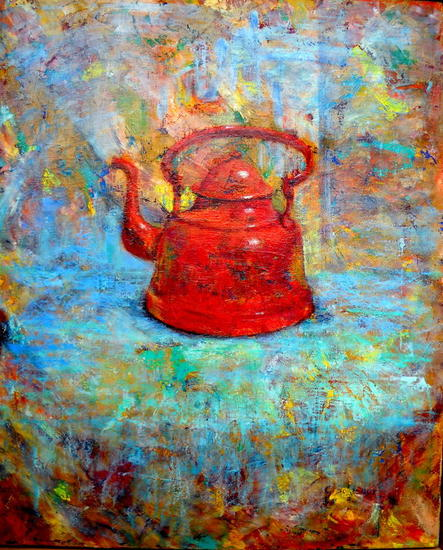 TETERA ROJA Canvas Oil Still Life Paintings