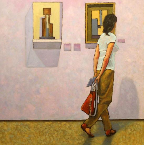 In the Gallery Óleo Figura Tabla