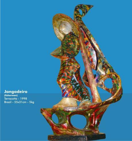 Jangadeiro - 1998 Terracotta Figurative