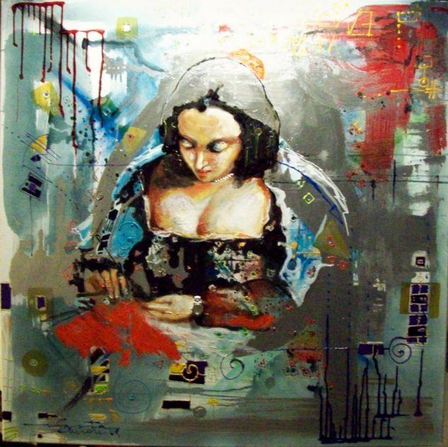 ...LA COSTURERITA...(q dio el buen paso) Oil Canvas Portrait