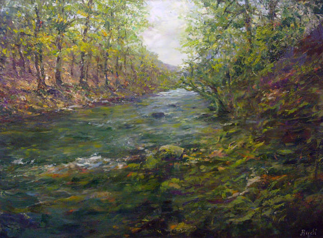 RÍO UREDERRA Canvas Oil Landscaping